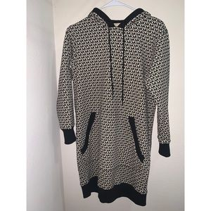 Michael Kors Logo Cotton Terry Hoodie Dress